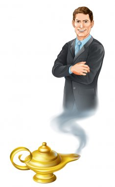 Business Genie Illustration