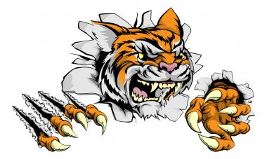 Tiger mascot claw breakthrough