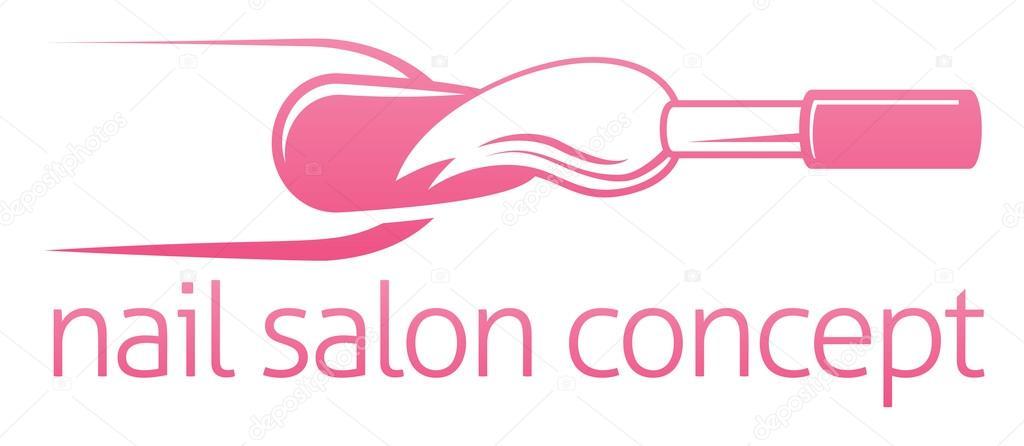 Vector: uñas | Barra de uñas o concepto salón — Vector de ...