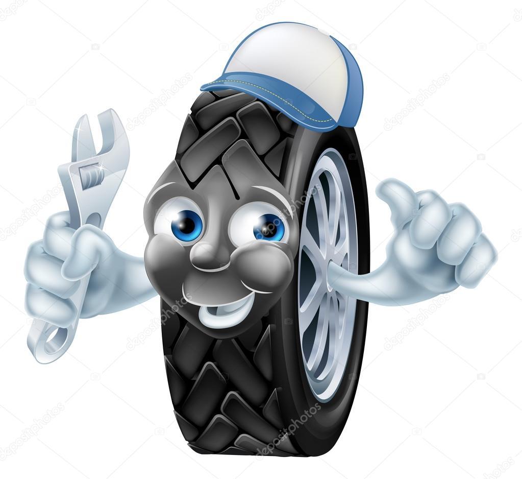 Personnage de dessin anim m canique de pneu image vectorielle krisdog 116690720 - Image de dessin anime ...