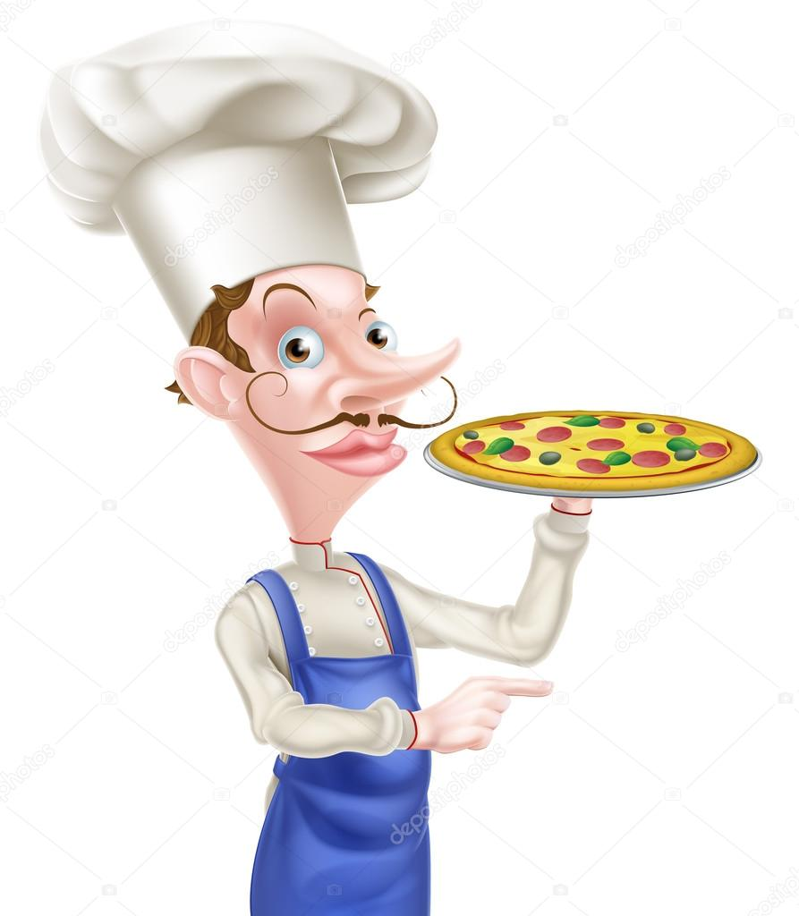 Chef pizza pointant 32