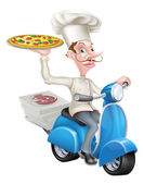 Pizza Delivery Chef moped