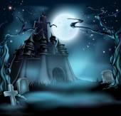 Fotografia Castello di Spooky halloween