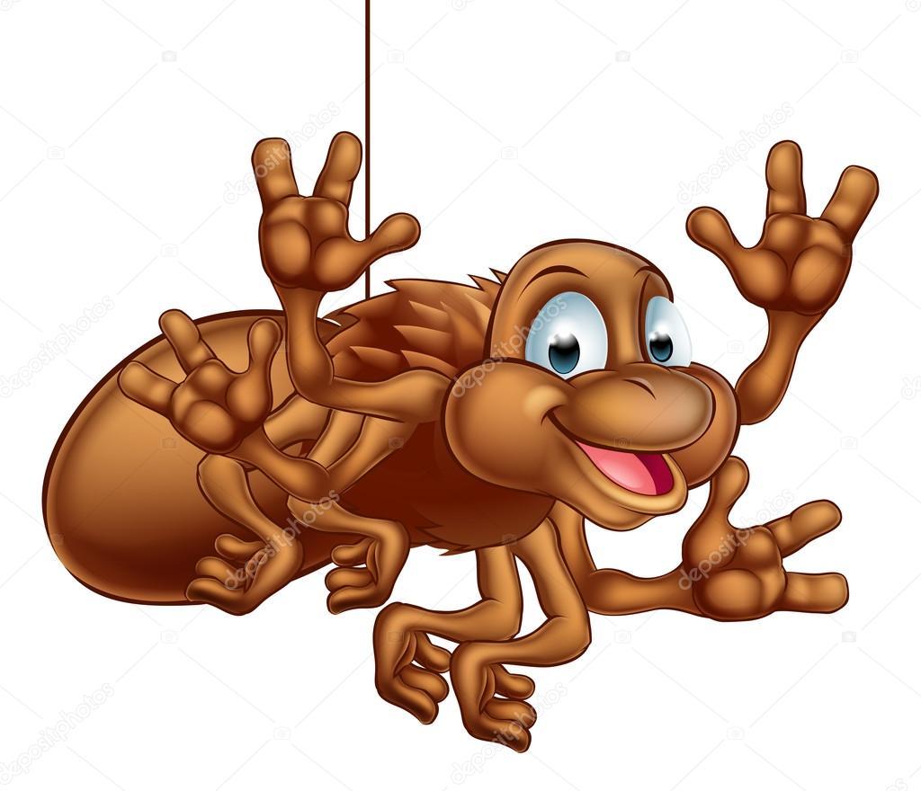 Vettore disegno ragno simpatico ragno simpatico cartone animato