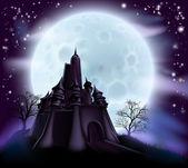 Halloween hrad pozadí