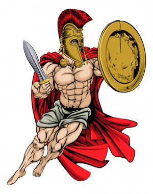 Red Caped Greek Warrior