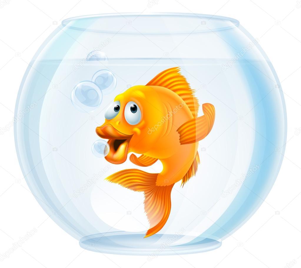 Dessin anim poisson rouge dans un bol image vectorielle for Bocal a poisson prix