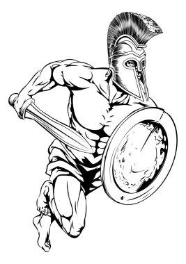 Sword and shield mascot