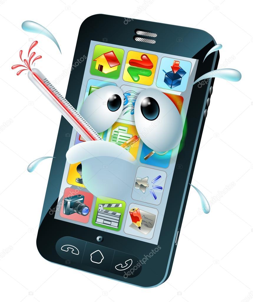 Desenho de m vel celular de v rus vetores de stock for Mobile telefono