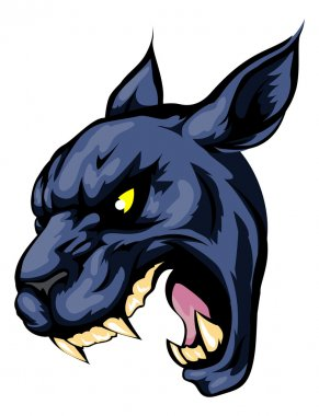 Panther mascot character