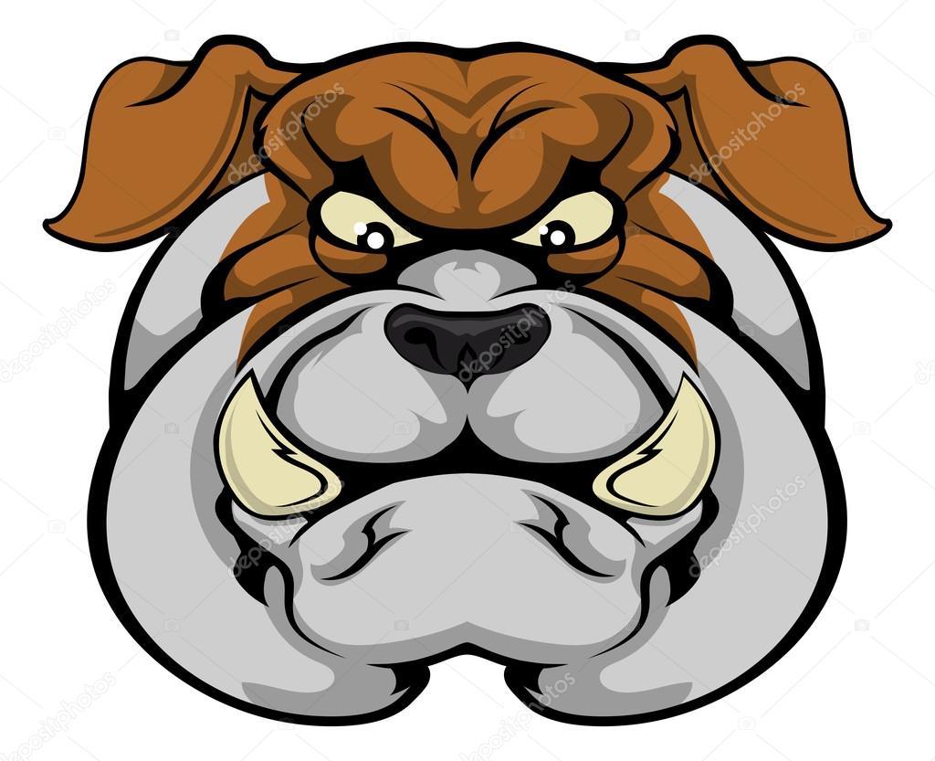 Bulldog Mascot Face Stock Vector Krisdog 80602406