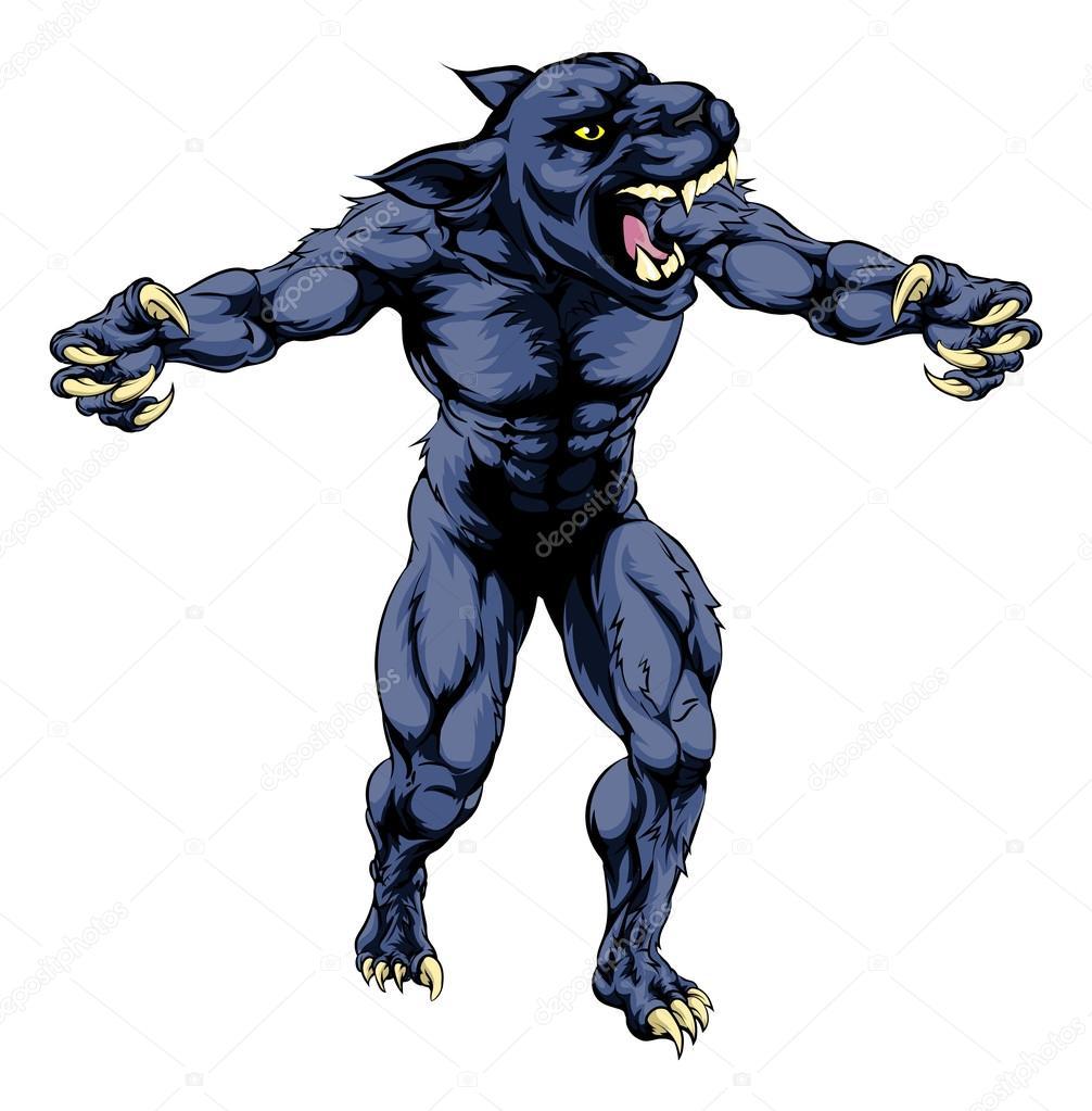 panther scary sports mascot stock vector krisdog 80602516 rh depositphotos com Black Panther Teeth Prphs Panthers