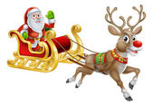 Santa vánoční sáně sáňky