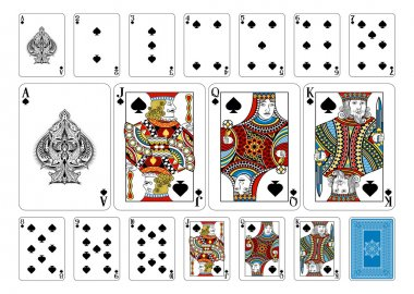 Poker size Spade playing cards plus reverse
