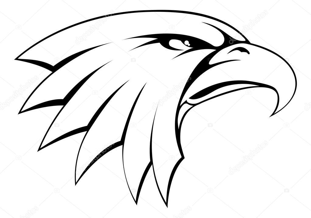Cabeza de águila para colorear | Icono de cabeza de águila calva ...