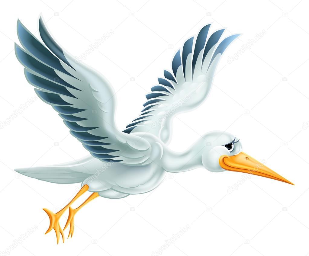 desenho de cegonha voando vetor de stock krisdog 84969124