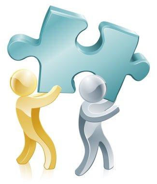 Jigsaw piece mascots