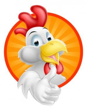 Cartoon Rooster Bird