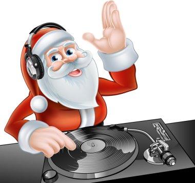 Cartoon DJ Santa