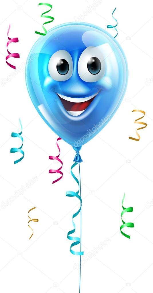 Blaue Zeichentrickfigur Ballon — Stockvektor © Krisdog #90238970
