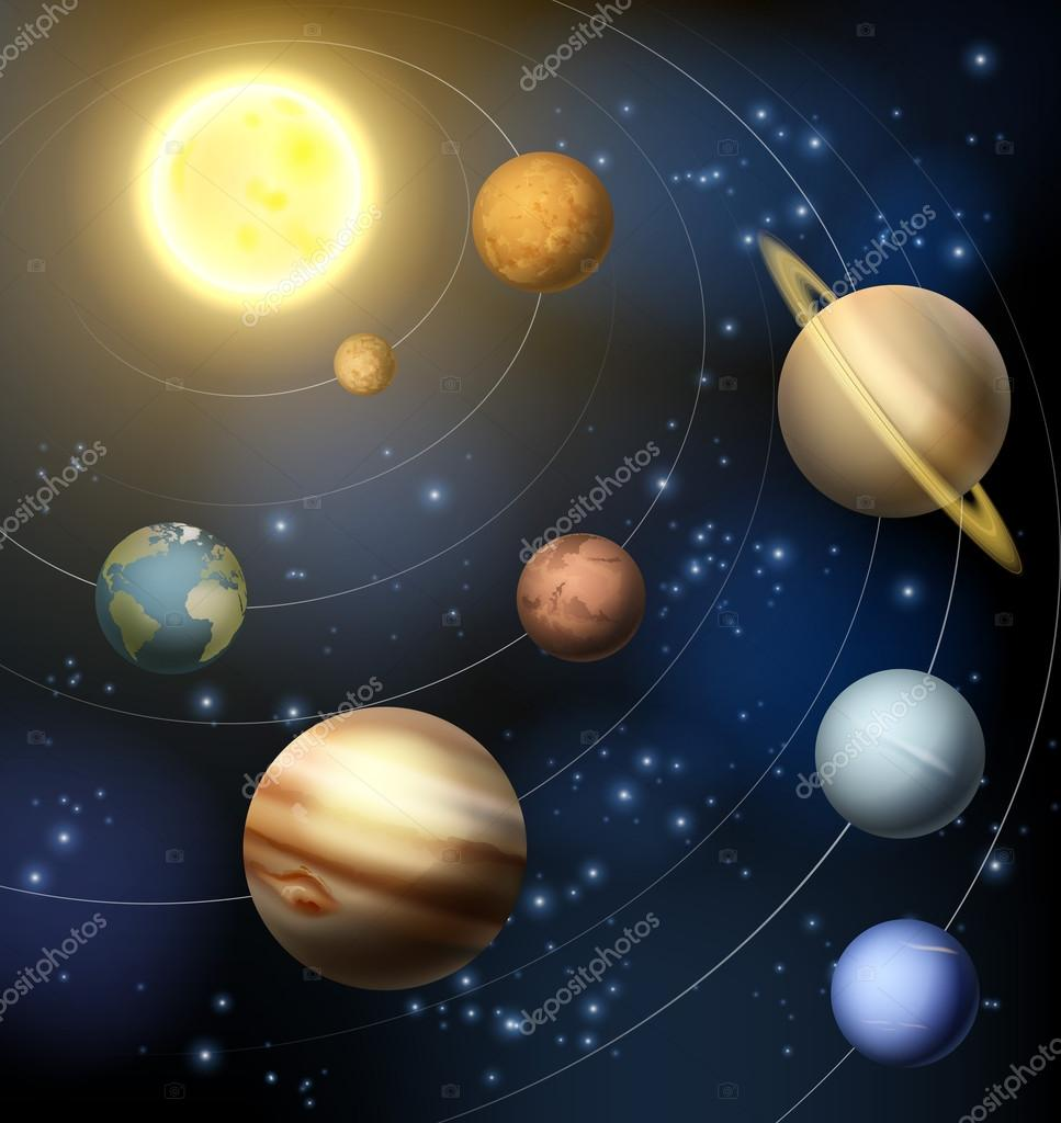 Planets of our Solar system — Stock Vector © Krisdog #90471336