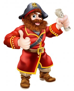 Cartoon thumbs up pirate