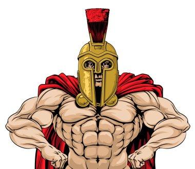 Spartan soldier illustration