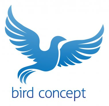 Blue bird or dove design