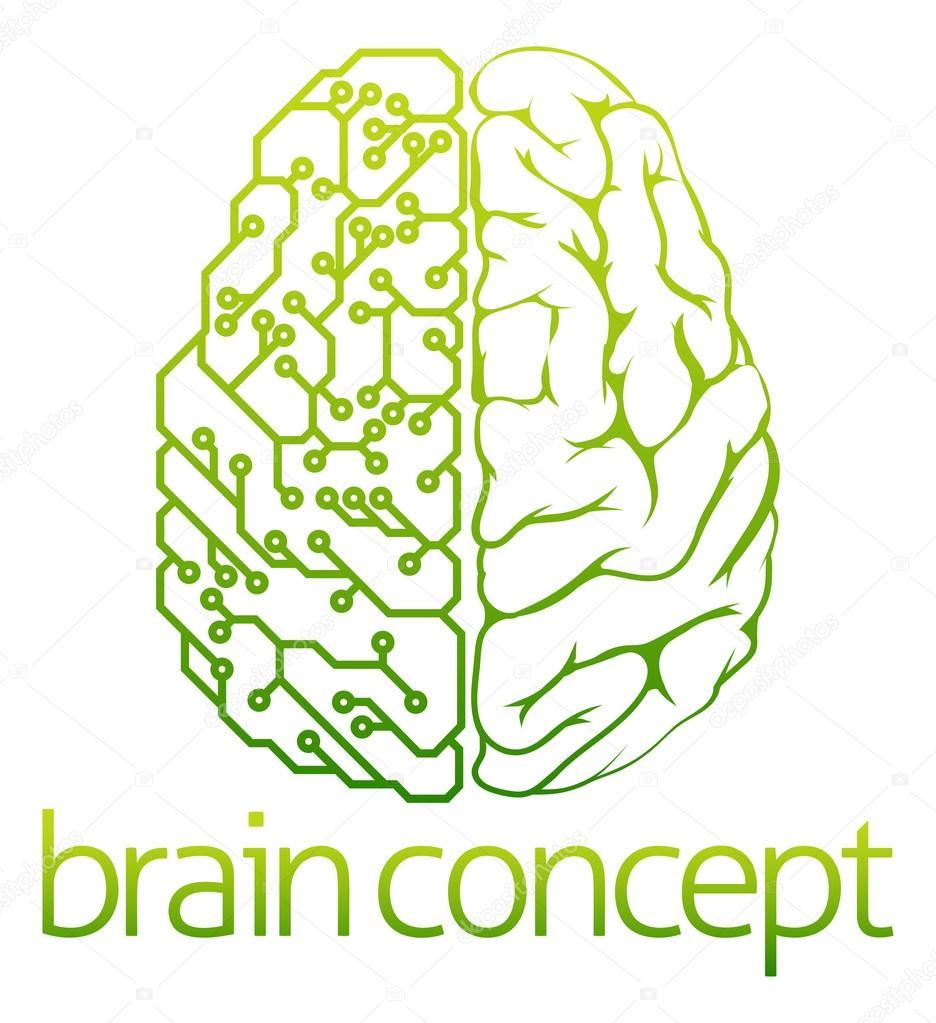 Circuito Eletricos : Projeto de circuitos elétricos do cérebro u vetor de stock