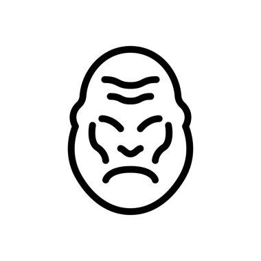 Gorilla  icon for website design and desktop envelopment, development. premium pack. icon