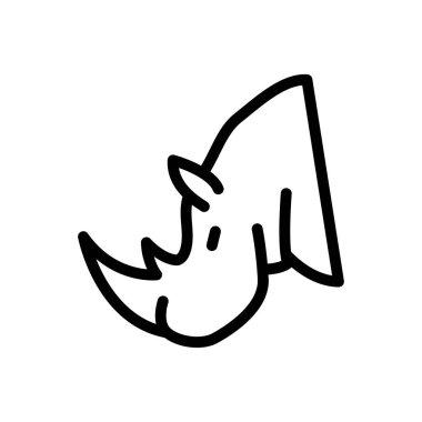 Rhino  icon for website design and desktop envelopment, development. premium pack. icon