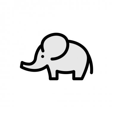 Elephant  icon for website design and desktop envelopment, development. premium pack. icon
