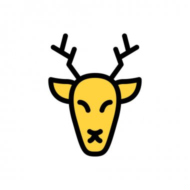 Reindeer icon for website design and desktop envelopment, development. premium pack. icon