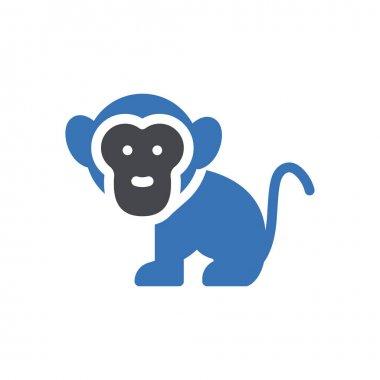 Monkey icon for website design and desktop envelopment, development. premium pack. icon