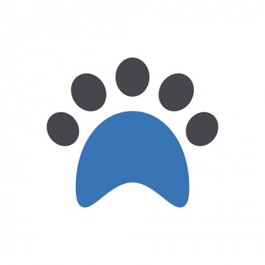 Paw  icon for website design and desktop envelopment, development. premium pack. icon
