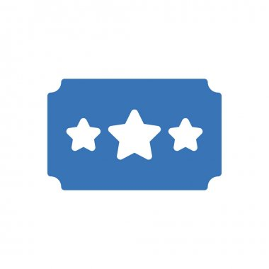 Ticket  icon for website design and desktop envelopment, development. premium pack. icon