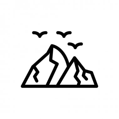 Hill  icon for website design and desktop envelopment, development. premium pack. icon