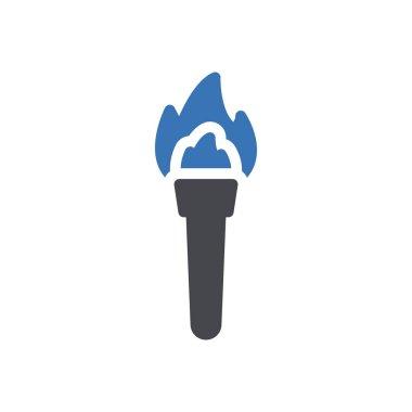 Torch  icon for website design and desktop envelopment, development. premium pack. icon