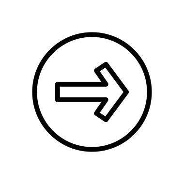 Next  icon for website design and desktop envelopment, development. premium pack. icon