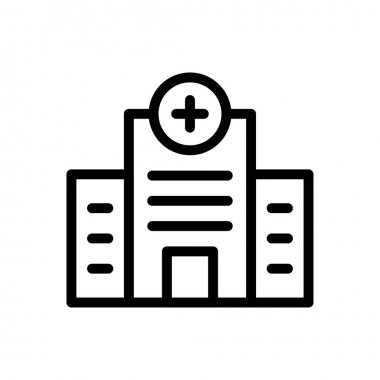Hospital  icon for website design and desktop envelopment, development. premium pack. icon