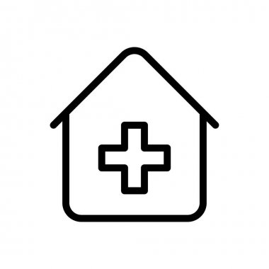 Clinic  icon for website design and desktop envelopment, development. premium pack. icon