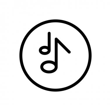 Music  icon for website design and desktop envelopment, development. premium pack. icon