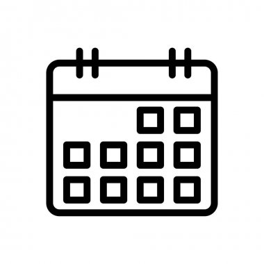 Calendar  icon for website design and desktop envelopment, development. premium pack. icon
