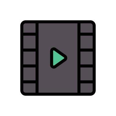 Video  icon for website design and desktop envelopment, development. premium pack. icon