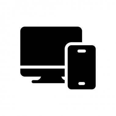 Mobile  icon for website design and desktop envelopment, development. premium pack. icon