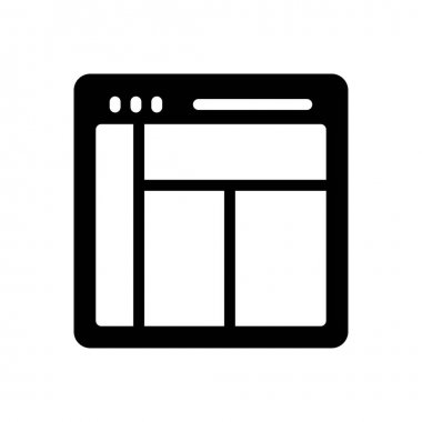 Webpage  icon for website design and desktop envelopment, development. premium pack. icon