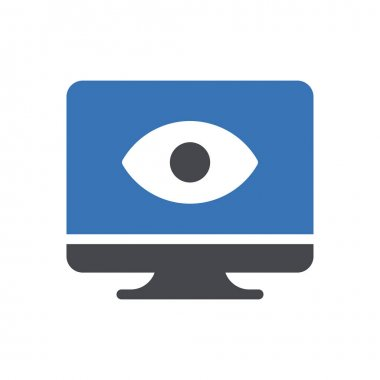 View icon for website design and desktop envelopment, development. premium pack. icon