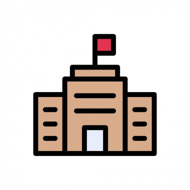 College  icon for website design and desktop envelopment, development. premium pack. icon