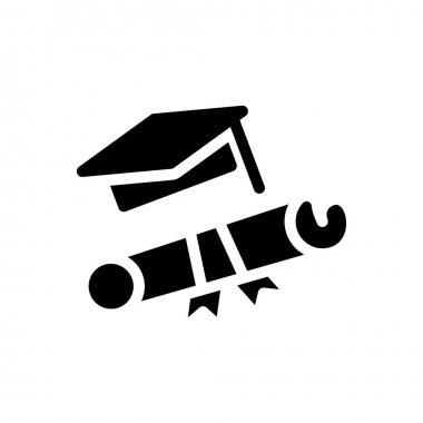 Degree icon for website design and desktop envelopment, development. premium pack. icon
