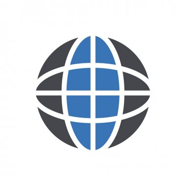 Global icon for website design and desktop envelopment, development. premium pack. icon
